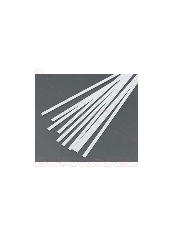 Tiras de estireno 0.75 x 1.00 x 350 mm (10 pzas.)