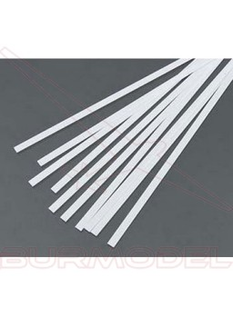 Tiras de estireno 2.50 x 4.80 x 350 mm ( 7 pzas.)