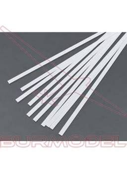 Tiras 0.28x0.56 mm esc. HO 1:87 blanco opaco (10 p