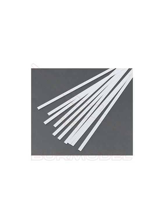 Tiras 0.28x3.43 mm esc. HO 1:87 blanco opaco (10 p