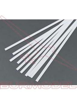 Tiras 0.56x3.43 mm esc. HO 1:87 blanco opaco (10)