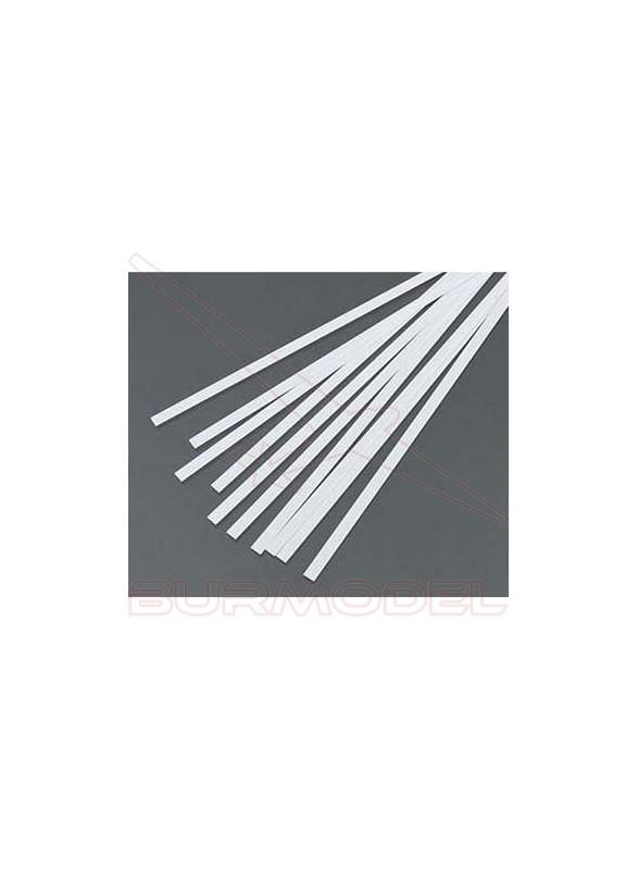 Tiras 1.09x3.43 mm esc. HO 1:87 blanco opaco (10)