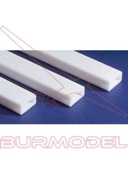 Tubo rectángular 6.3 x 9.5 x 350 mm (2 piezas)