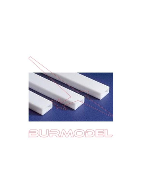 Tubo rectangular 6.3 x 9.5 x 350 mm (2 piezas)