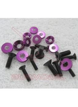 Tornillería de 3 y 4 mm con arandelas