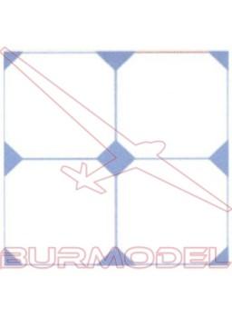 DM Suelo rombo azul 24x12