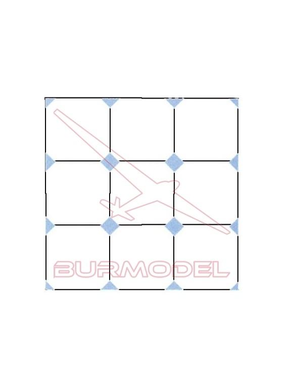DM Baldosa rombo azul 12x24