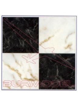 DM Marmol negro/blanco 24.5x14