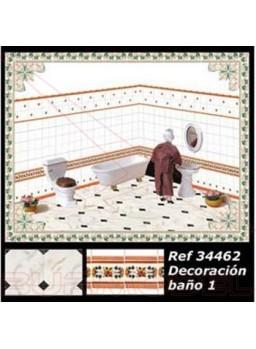 Decoración completa modelo baño 1