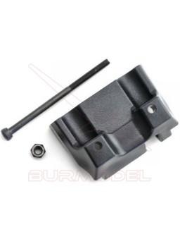 Tornillo+pieza sujección barra rigidificadora tra.