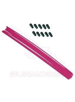 Antena color rosa con tapón (1 und)