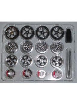 Set 12 Llantas X-Mods con neumáticos