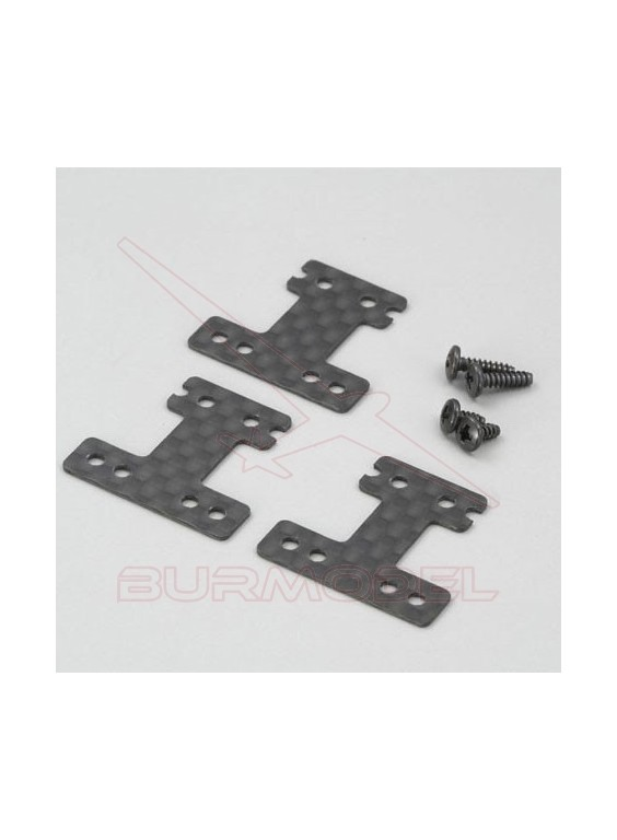Placa suspension trasera carbono Mini Z MR02 MM