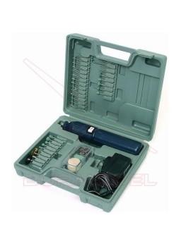 Taladro eléctrico con cargador en maletin