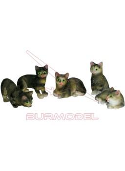 Gatos para casitas de muñecas