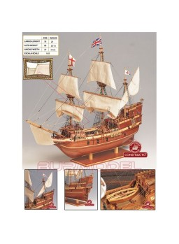 Barco Mayflower para montar. Escala 1/65