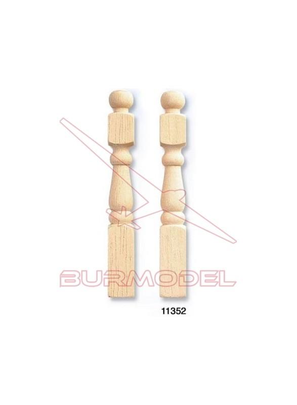 Barrotes torneados (2 unidades)
