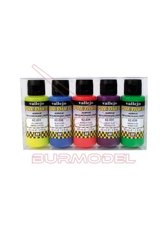 Pintura Vallejo Premium surtido de colores Fluor