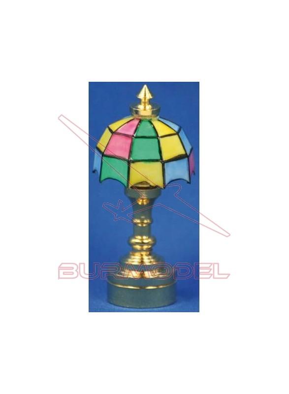 Lámpara Tiffany para mesa casitas de muñecas
