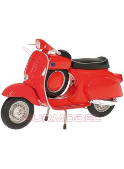 Moto Vespa SS 90'70, color rojo 1/12. Metal.