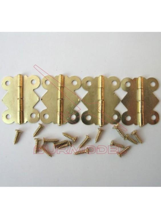 Bisagra 25*20 mm (4 piezas)