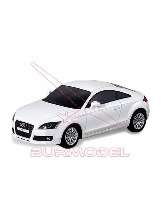 Coche radio control Audi TT blanco. 1/14. RTR