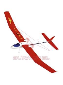 Avión Falcon color rojo. 2,4 Ghz
