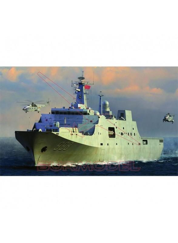 Maqueta buque PLA Navy T-071 1/350