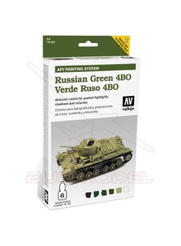 VALLEJO AFV RUSSIAN GREEN 6x8ml