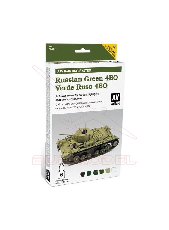 VALLEJO AFV RUSSIAN GREEN 6x8ml