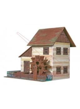 Kit en miniatura de madera Molino de agua