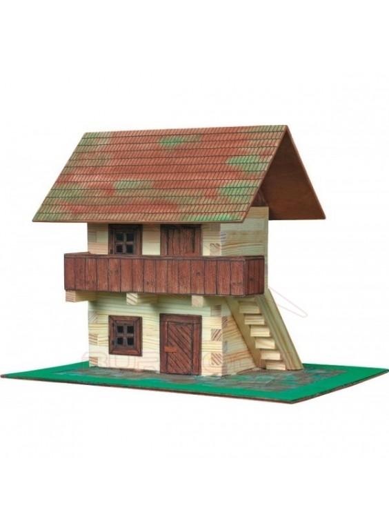 Maqueta en miniatura granero para niños.