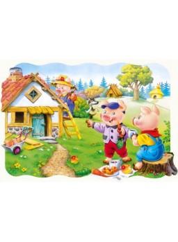 Puzzle infantil los 3 cerditos. 30 piezas