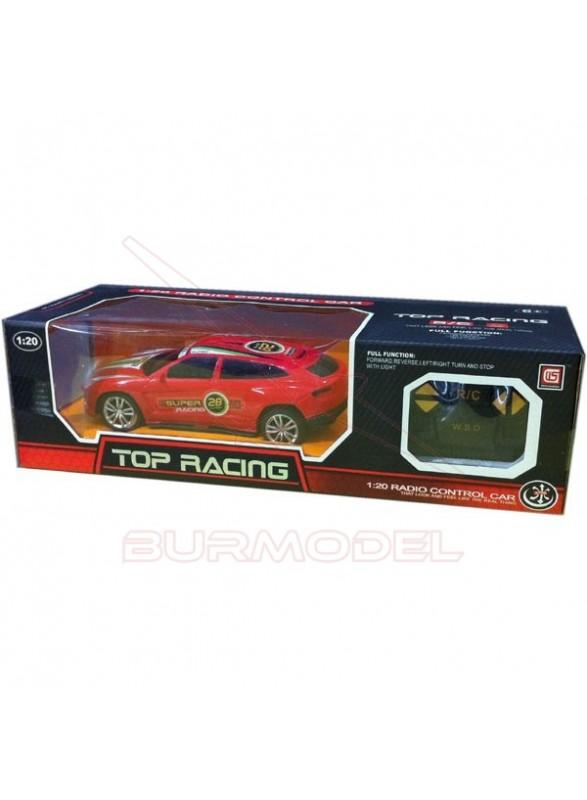 Coche rc Top Racing 1/20 nº 28 color rojo