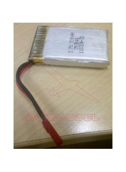 Batería 3,7v 1S 800 Mah conector bec macho