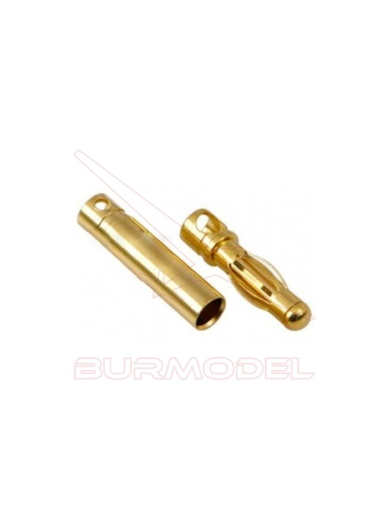 Conector PK 3mm chapa oro m/h