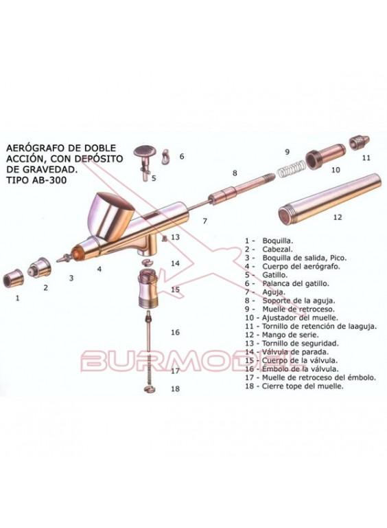 Aguja AB-300 0,2mm.
