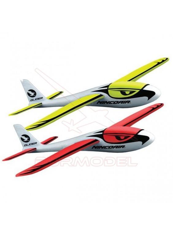 Avión Glider Nincoair rojo o amarillo