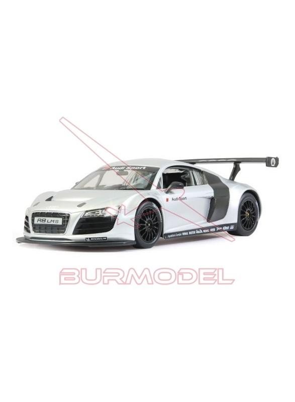 Coche eléctrico Audi R8 LMS escala 1/14 plata