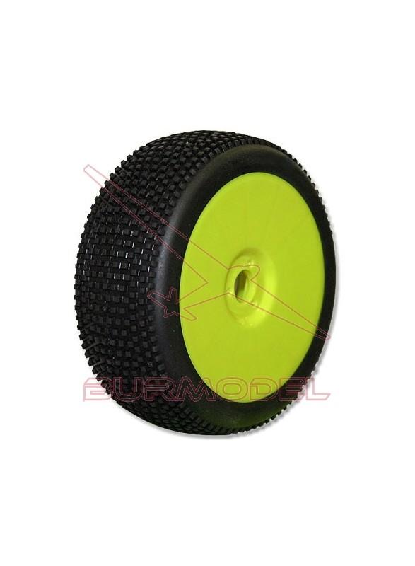 Neumáticos Hot Dices Buggy verde (blando)