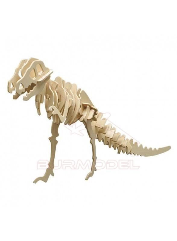 Maqueta de madera para montar un dinosaurio