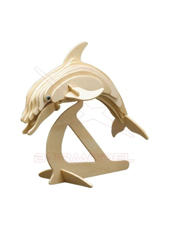 Delfín maqueta de madera