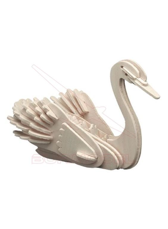 Cisne maqueta en madera