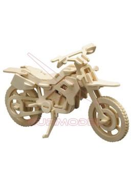 Maqueta de madera para montar una motocicleta