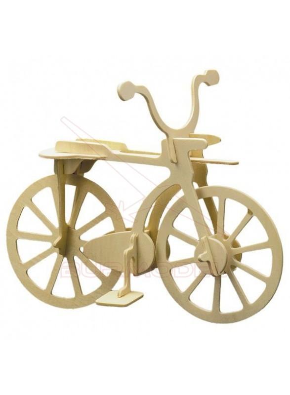 Bicicleta maqueta de madera
