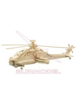 Maqueta para montar helicóptero en madera
