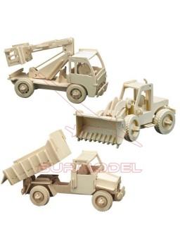 Kit 3 en 1 maquetas de madera