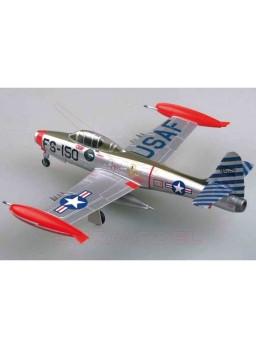 """Maqueta montada avión F-84E """"Thunderjet"""" 1/72"""