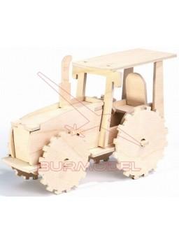 Maqueta de madera para montar tractor