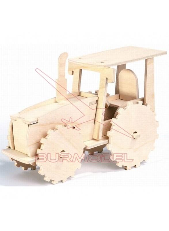 Puzzle tractor para niños